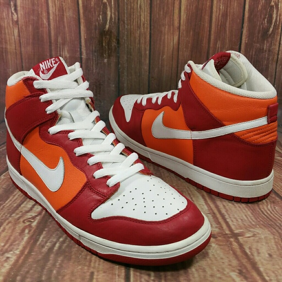 63d336e238 Nike Dunk Hi Varsity Red White-Orange Blaze Sz11.5.  M 5ac1e58a2c705da094fe096c